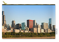 Chicago Downtown At Sunrise Carry-all Pouch by Semmick Photo