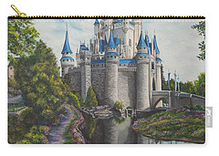 Cinderella Castle  Carry-all Pouch by Charlotte Blanchard