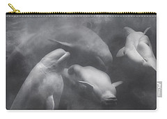 Dancing Belugas  Carry-all Pouch by Betsy Knapp