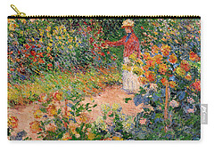 Garden At Giverny Carry-all Pouch by Claude Monet