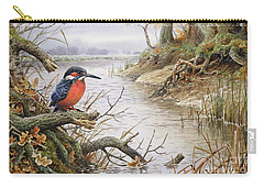 Kingfisher Carry-all Pouch by Carl Donner