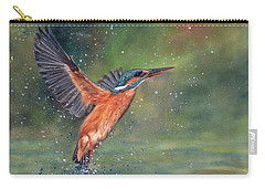 Kingfisher Carry-all Pouch by David Stribbling