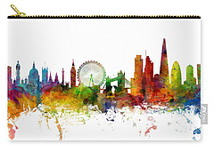 London England Skyline Panoramic Carry-all Pouch by Michael Tompsett