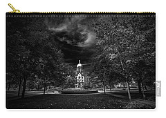 Notre Dame University Black White Carry-all Pouch by David Haskett
