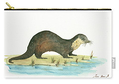 Otter Carry-all Pouch by Juan Bosco