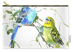 Parakeets Carry-all Pouch by Suren Nersisyan
