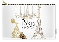 Paris - Ooh La La Fashion Eiffel Tower Chandelier Perfume Bottle Carry-all Pouch by Audrey Jeanne Roberts