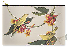 Rathbone Warbler Carry-all Pouch by John James Audubon