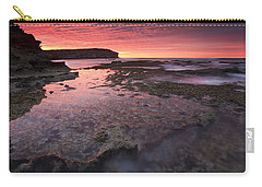 Red Sky At Morning Carry-all Pouch by Mike  Dawson