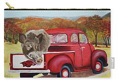 Ridin' With Razorbacks 2 Carry-all Pouch by Belinda Nagy
