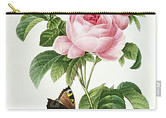 Rosa Centifolia Carry-all Pouch by Pierre Joseph Redoute
