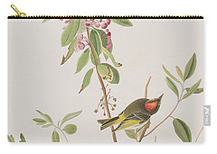 Ruby Crowned Wren Carry-all Pouch by John James Audubon
