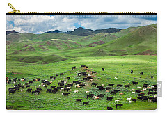 Salt And Pepper Pasture Carry-all Pouch by Todd Klassy