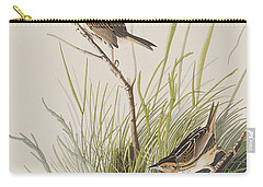 Sharp Tailed Finch Carry-all Pouch by John James Audubon