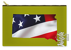 South Dakota Map Collection Carry-all Pouch by Marvin Blaine