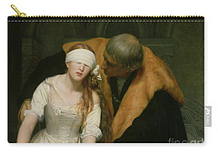The Execution Of Lady Jane Grey Carry-all Pouch by Hippolyte Delaroche