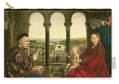 The Rolin Madonna Carry-all Pouch by Jan van Eyck