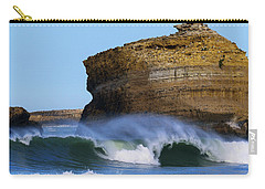 Carry-all Pouch featuring the photograph The Wave by Thierry Bouriat