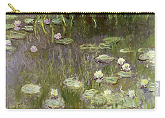 Waterlilies At Midday Carry-all Pouch by Claude Monet