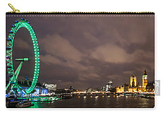 Westminster And The London Eye Carry-all Pouch by Dawn OConnor