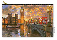Westminster Sunset Carry-all Pouch by Dominic Davison