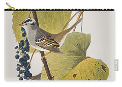 White-crowned Sparrow Carry-all Pouch by John James Audubon