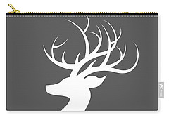 White Deer Silhouette Carry-all Pouch by Chastity Hoff