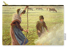 White Frost Carry-all Pouch by Camille Pissarro