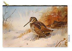 Winter Woodcock Carry-all Pouch by Mountain Dreams