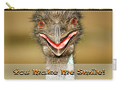 You Make Me Smile Carry-all Pouch by Carolyn Marshall