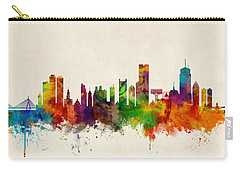Boston Massachusetts Skyline Carry-all Pouch by Michael Tompsett
