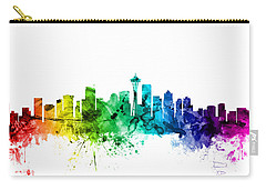 Seattle Washington Skyline Carry-all Pouch by Michael Tompsett
