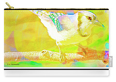 Carry-all Pouch featuring the digital art Blue Jay, Animal Portrait by A Gurmankin