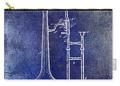 1902 Trombone Patent Blue Carry-all Pouch by Jon Neidert