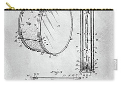 1908 Drum Patent Illustration Carry-all Pouch by Dan Sproul