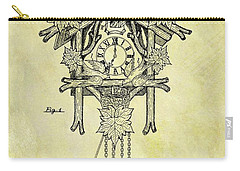 1912 Cuckoo Clock Patent Carry-all Pouch by Dan Sproul