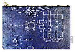 1939 Trumpet Patent Blue Carry-all Pouch by Jon Neidert