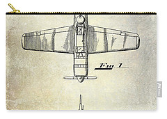 1946 Airplane Patent Carry-all Pouch by Jon Neidert