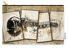 1955 Les Paul Custom Black Beauty V5 Carry-all Pouch by Gary Bodnar