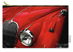 Carry-all Pouch featuring the photograph 1960s Jaguar by M G Whittingham