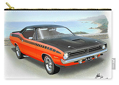 1970 Barracuda Aar  Cuda Classic Muscle Car Carry-all Pouch by John Samsen