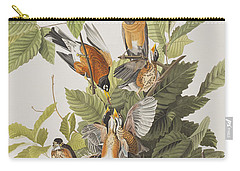 American Robin Carry-all Pouch by John James Audubon