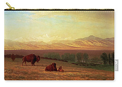 Buffalo On The Plains Carry-all Pouch by Albert Bierstadt