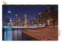 Chicago From The North Carry-all Pouch by Frozen in Time Fine Art Photography