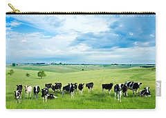 Happy Cows Carry-all Pouch by Todd Klassy