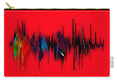 Inspirational Soundwave Message Carry-all Pouch by Marvin Blaine