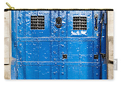 Old Blue Door Carry-all Pouch by Tom Gowanlock