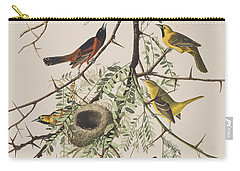 Orchard Oriole Carry-all Pouch by John James Audubon