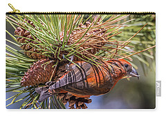 Red Crossbill Carry-all Pouch by Michael Cunningham