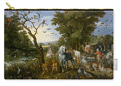 The Entry Of The Animals Into Noah's Ark Carry-all Pouch by Jan Brueghel the Elder